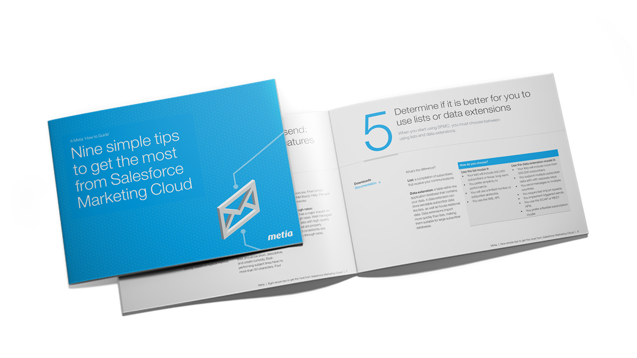 9 Salesforce Marketing Cloud tips | Metia
