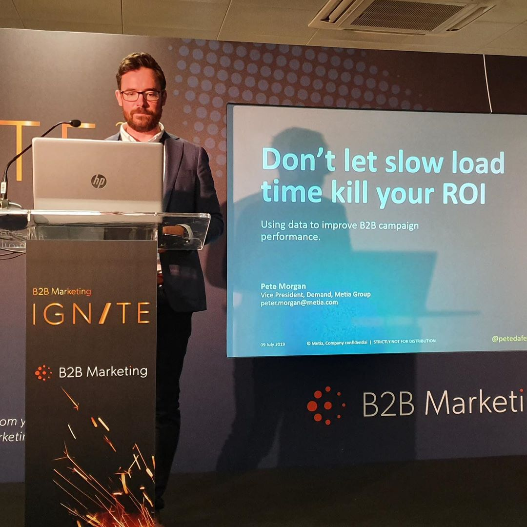 Pete presenting at B2B Marketing Ignite